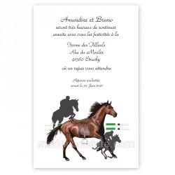 carton repas thème cheval équitation