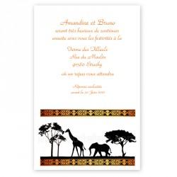 Invitation repas Africa wax orangé