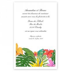 Invitation repas tropical