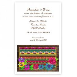 Invitation repas etnique mexique