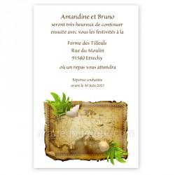 Invitation carte au trésor imprimé