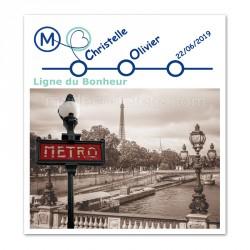 Faire-part thème Paris métro