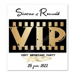 Faire-part thème VIP