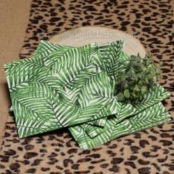 Serviettes feuille de palmier x 20