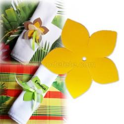 Fleur exotique jaune x 3