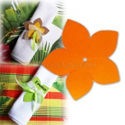 Fleur exotique orange 6 cm (lot de 3)