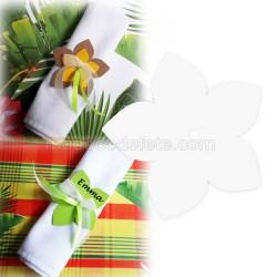 Fleur exotique blanc 6 cm (lot de 3)