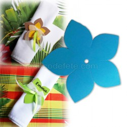 Fleur exotique turquoise 6 cm (lot de 3)