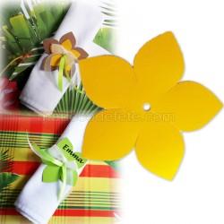Fleur exotique jaune 9 cm (lot de 4)