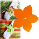 Fleur exotique orange 9 cm (lot de 4)