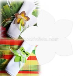 Fleur exotique blanche 9 cm (lot de 4)