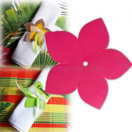 Fleur exotique fuchsia 9 cm (lot de 4)