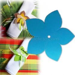 Fleur exotique turquoise 9 cm (lot de 4)