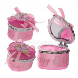 Boîte dragées baptême rose