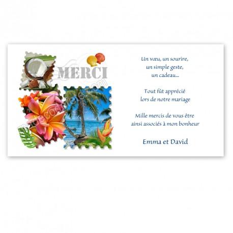Remerciement timbre tropical