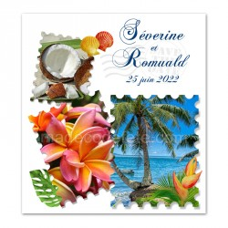 Faire-part timbre tropical