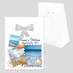 Boîte dragées timbres mer