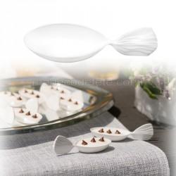 Verrines cuillères x 30 blanc
