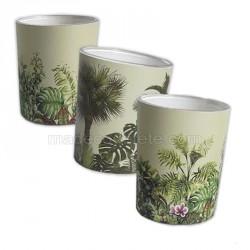 Trio de bougies tropicales