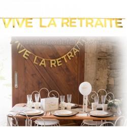 Guirlande or Vive la Retraite