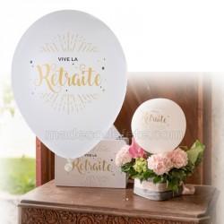 Ballons Retraite or x 8