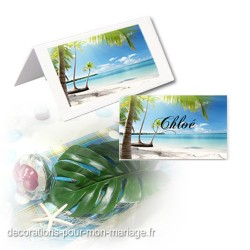 24 marque-place plage exotique