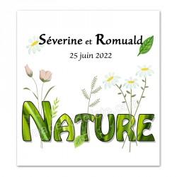 Faire-part thème nature