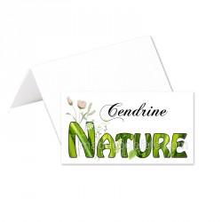 Porte-noms mot nature (x24)