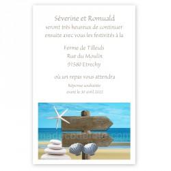 Invitation repas mer pancarte
