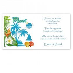 Remerciement l'île bleue