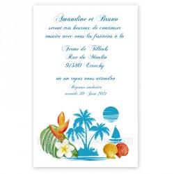 Invitation repas l'île bleue