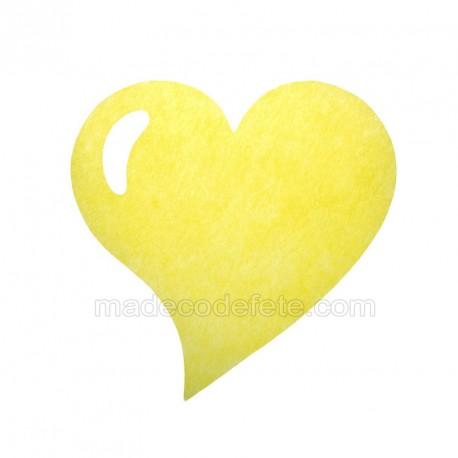 50 sets de table coeur jaune