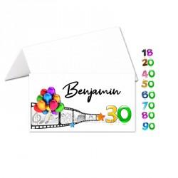 Porte-noms anniversaire couleur (x24)