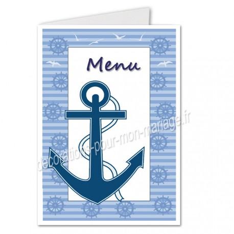menu mariage mer ancre