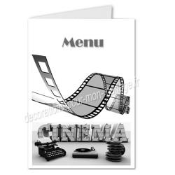 menu mariage cinéma rétro