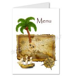 menu anniversaire pirate ile au trésor
