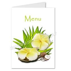 menu mariage fleur de tiaré