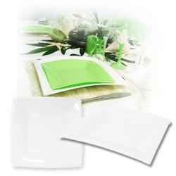Assiette design jetable grande blanche 23 cm