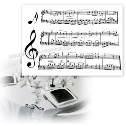 10 sets de table partition musique