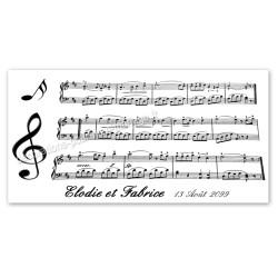 Faire-part mariage partition musique