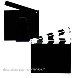 Marque-table clap cinéma