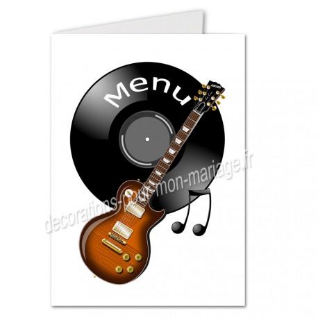 menu musique guitare