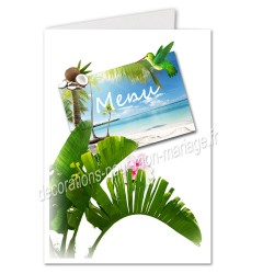 menu carte postale tropique