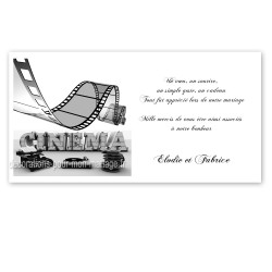Carton remerciement cinéma rétro