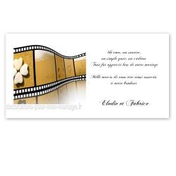 Carton remerciement photo sable