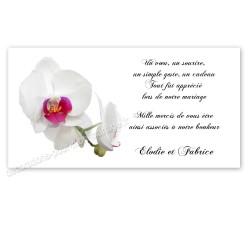 Carton remerciement orchidée