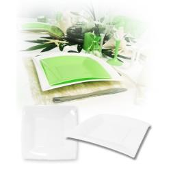 Assiette design jetable petite blanche 18 cm