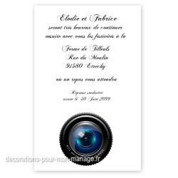 Invitation repas photographie