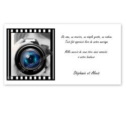 Carton remerciement photographie