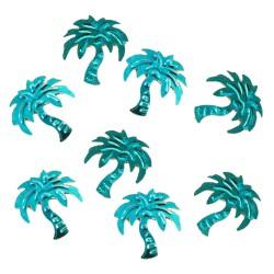 Paillettes déco palmier turquoise